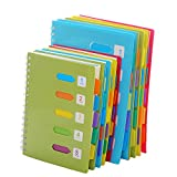 Chris.W 5-Subject Notebook with Dividers Index Tabs, Small Spiral Wirebound Ruled Notebooks for Women Students Teens Office School, 240 Pages Lined Paper, Green-B5 Size(7x10inch)