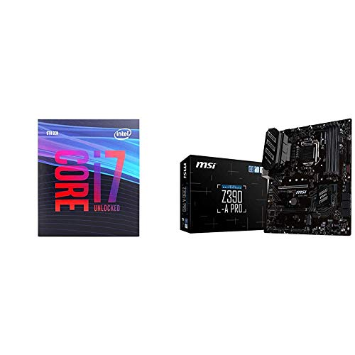 Intel Core i7-9700K Desktop Processor & MSI Z390-A PRO LGA1151 (Intel 8th and 9th Gen) M.2 USB 3.1 Gen 2 DDR4 HDMI DP CFX Dual Gigabit LAN ATX Z390 Gaming Motherboard