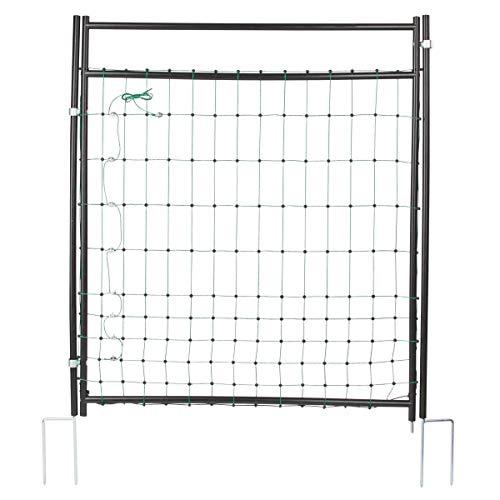 Agrarzone Tor für Weidezaunnetz 125 cm | Weidezaun Tür Elektrozaun-Netz | geringe Maschenweite & standfest | stabile Weide-Tür für Weidetor Schafzaun Elektrozaun | schneller & sicherer Weidezugang