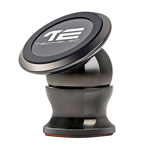 TechElec Supporto Magnetico Auto Universale 360°Rotational Supporto Auto Smartphone Porta Telefono per iPhone 7, 6, 6S, SE, Galaxy S8 / S7, HUAWEI, Moto lg, ecc. - Nero