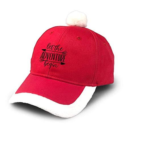 Kling Santa Baseball Cap Lassen Sie das Abenteuer beginnen Christmas Caps Red