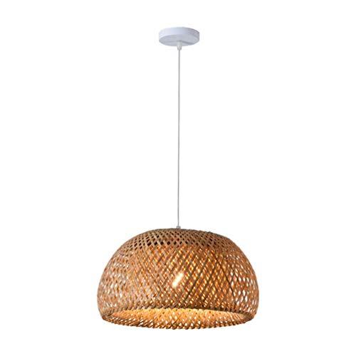 LIUJIE Colgante de Techo de bambú Mimbre de la lámpara de Sombras Pantalla de la Tela de iluminación Restaurante de la Cocina Comedor,280 * 180mm