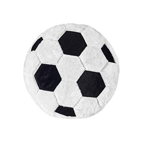 Fittoway Cojín de peluche con diseño de balón de fútbol, para sofá, dormitorio, decoración