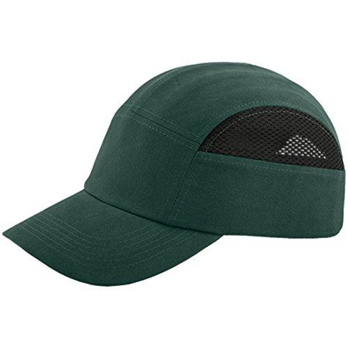REIS ANSTOßKAPPE BUMPCAPMESH Schutzkappe Schutzhelm Arbeitskappe Sicherheitskappe NEU Grün-schwarz