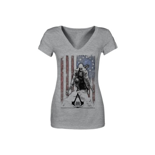 Assassin's Creed III - L - Gris shirt - Tatterouge Flag