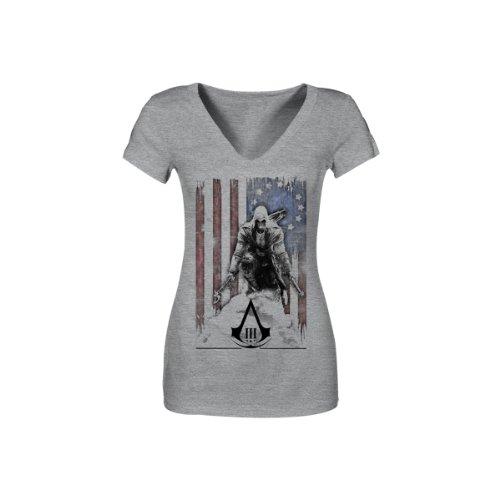 Assassin's Creed III - XL - Gris shirt - Tatterouge Flag