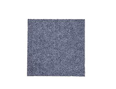 "CISSLOR Self Adhesive Carpet Floor Peel Tile Square 48 Pcs 12"" x 12"" Peel and Stick Carpet Floor Tiles Home Furnishings Floor Easy Install DIY (48, Gray)"