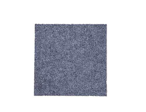CISSLOR Self Adhesive Carpet Floor Peel Tile Square 48 Pcs 12