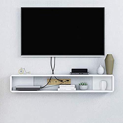 SXFYHXY Estante Flotante para Componentes De Televisión Decodificador WiFi Enrutador Estante De Almacenamiento Pared Televisor Montado En La Pared Gabinete