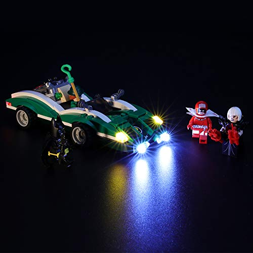 BRIKSMAX Kit de Iluminación Lego Batman Coche Misterioso de The Riddler, Compatible con Ladrillos de Construcción Lego Modelo 70903, Juego de Legos no Incluido