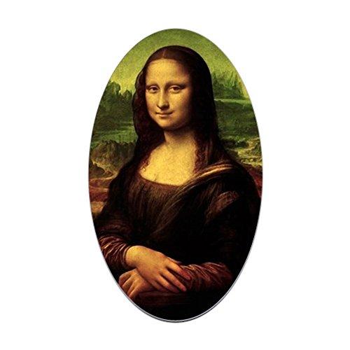 CafePress Mona Lisa Oval Bumper Sticker, Euro Oval Car Decal