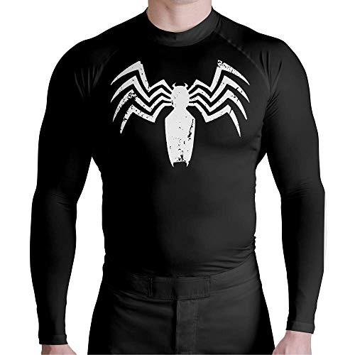 Camisa De Compressão Térmica Manga Longa ATL Pro Prot Uv Venon Atlética Esportes Tamanho:M;Cor:Preto