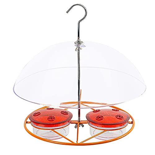 Germplasm Hummingbird Feeders With Transparent Dome,Outdoor Hanging Water Feeder,Anti-Rat,Metal Materials,Leak-Proof,Easy To Clean And Fill,Suitable For Windows,Outside,Backyard,Garden,Orchard,Patio