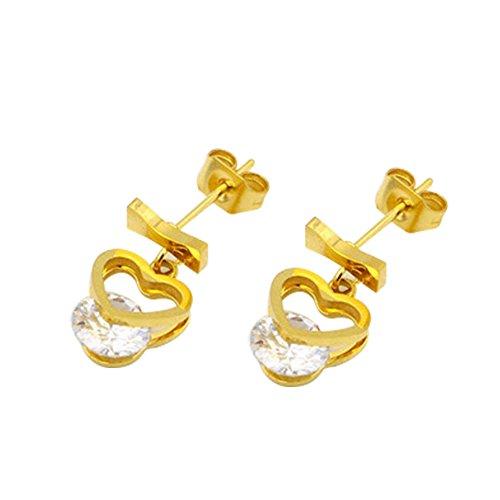Fablcrew cute note orecchini titanio orecchini gioielli e accessori per bambine donna oro