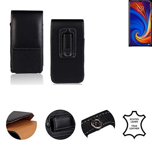 K-S-Trade® Holster Gürtel Tasche Für Lenovo Z5s Handy Hülle Leder Schwarz, 1x