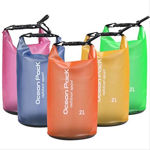 PEFINI 5pcs 2l Bolsas De Almacenamiento Impermeable Al Aire Libre Sacos Secos Bolsas De Almacenamiento De La Cámara del Teléfono Inteligente para Deportes Acuáticos A La Deriva