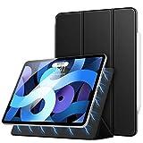 MoKo Hülle Kompatibel mit iPad Air 4. Generation 2020 Neu iPad 10.9 Zoll2020, [UnterstütztiPencilKabellos Laden] Dreifach Schlanke Schutzhülle Magnetisch Befestigung Auto Schlaf/Aufwach - Schwarz