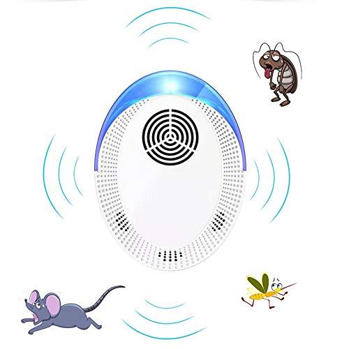Ttdbd Repelente de plagas, Repelente de Insectos y roedores electrónicos para Interiores Enchufable para Mosquitos, Moscas, polillas, pulgas, cucarachas, Ratas, Ratones, Insectos, arañas, Hormigas