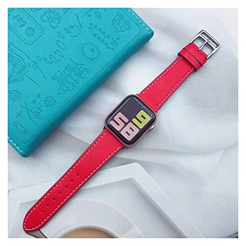 LIANYG Correa De Reloj Bucle de Cuero 40mm 44mm Correa Deportiva 493 (Band Color : Red, Band Width : 44mm Series 4 5 6 se)