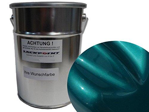 Lackpoint 1 Liter Spritzfertig Wasserbasislack Candy Türkis Metallic Autolack