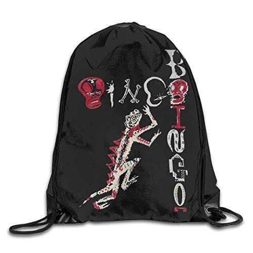 JHUIK Drawstring Bag Backpack,Oingo Boingo Mode Sac à Dos Design épaule Sac à Cordon Homme Femme Sacs Blanc Taille Unique