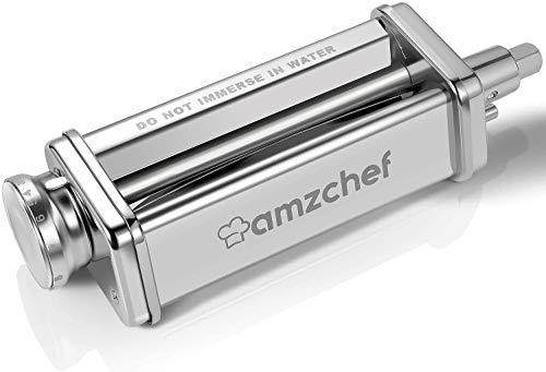 Accessorio per rullo per pasta, Accessori per macchine per pasta per pasta in acciaio inossidabile AMZCHEF per mixer da cucina
