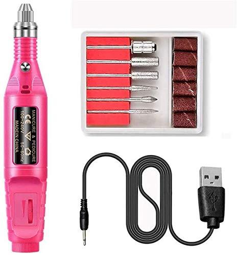 Taladro de uñas USB, Kit de Taladro de uñas eléctrico, Forma de...