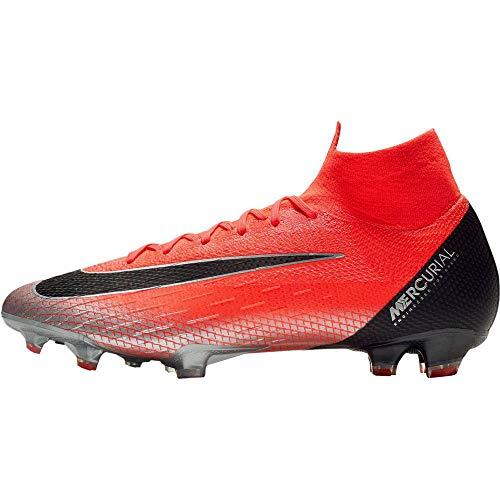 Nike Performance Mercurial Superfly VI Elite CR7 FG Fußballschuh Herren neonrot/schwarz, 11.5 US - 45.5 EU - 10.5 UK