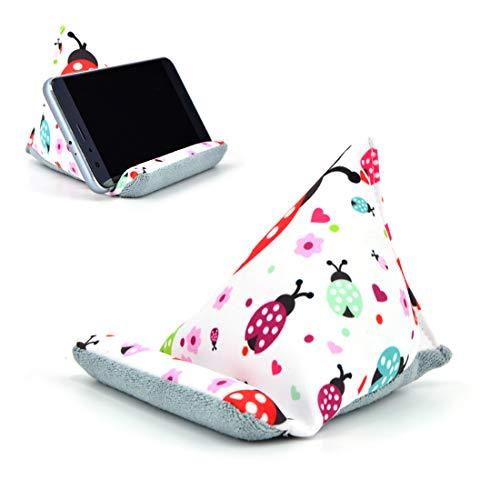 Fabric Phone Stands,Phone Pillow Holder for iPhone X iPhone 8 ,Phone Sofa Bean Bag Cushion (Ladybird)