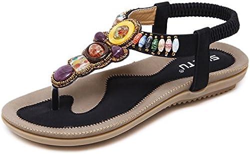 Aa-nvliangxie Frauen Sandalen 2018 Neue Haare Hausschuhe Frauen Sommer flache Schuhe tragen Kinder koreanischer Mode Outdoor Outdoor Drachen Eu 37 Cn 38 Rosa Rot