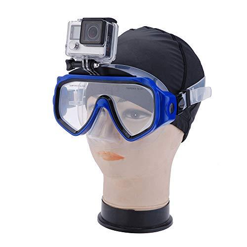 TQBT Tauchmaske Schnorchelmaske Tauchmaske Schnorcheln Anti-Rutsch-Ring-Kamera Maske Tauchen Schwimmen Atemschlauch Maske Anti-Fog Vollgesicht