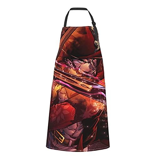 Red Mihawk One PieceS delantal terproof ajustable correa para el hombro delantales cocina BBQ adulto artista bolsillo delantales