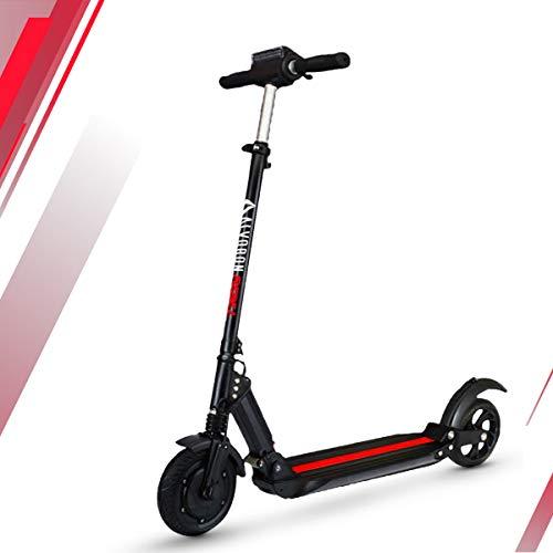 Alvoron Rebel Elektro Scooter | E-Scooter | Elektroroller für Erwachsene | max. 500W | 20 Km/h | 7 Ah Akku | E-Roller, Elektroroller, e Scooter (Schwarz)