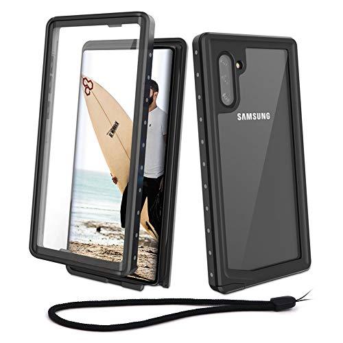 Beeasy Coque Samsung Note 10, Etanche 360 ° Protection Antichoc Robuste Outdoor Antipoussière Anti-Choc Housse Étui Rigide Résistant Aux Chocs pour Galaxy Note 10,Noir