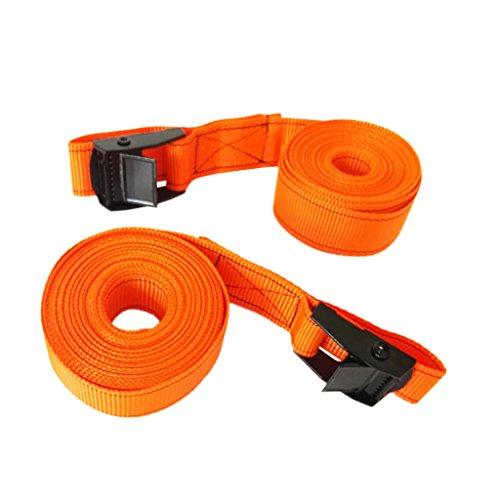 Gazechimp Mit Metallschnalle abschließbarer Spanngurt, Mehrzweck Zurrgurt, 2pcs Pack, Orange - 5m