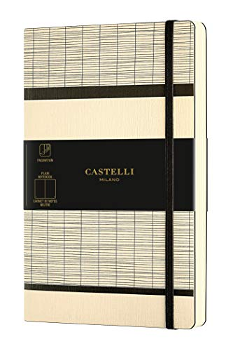 Castelli Milano TATAMI White milk Taccuino 13x21 cm Pagina Bianca Copertina Flessibile 240 Pag
