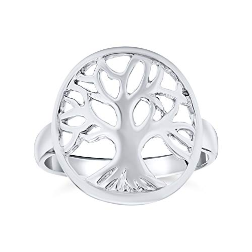 Round Open Circle Celtic Family Wishing Tree Of Life Ring For Women For Teen 925 Sterling Silver