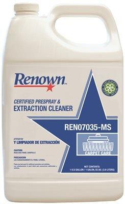 Renown Certified Prespray & Extraction Cleaner, 1 Gallon, 4 Per Case-REN07035-MS