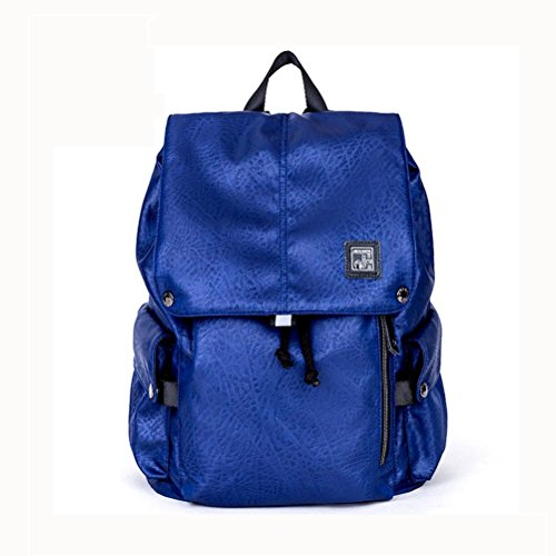 beibao shop Backpack Sac à Dos pour Ordinateur Portable 18 Pouces Imperméable Tissu d'Oxford Entreprise Décontractée Backpack avec Port de Chargement USB, Blue