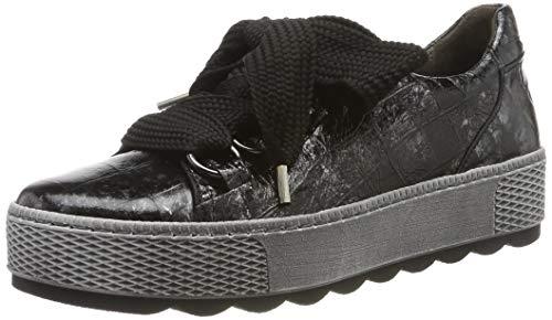 Gabor Damen Comfort Basic Sneaker, Schwarz (Schwarz 67), 43 EU (9 UK)