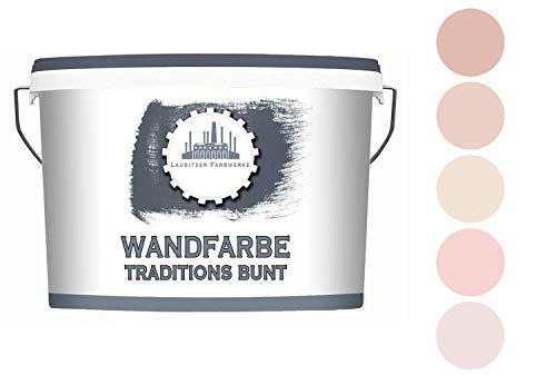 Lausitzer Farbwerke Dispersionsfarbe Rosa matt - Wandfarbe für innen QUALITÄT + EINFACHE ANWENDUNG (5 L, Rose Mauve)