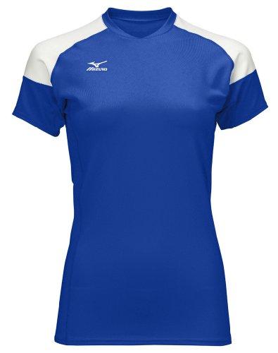Mizuno Techno Volley II Damen Volleyball-Trikot, Damen, Royal-White, X-Large