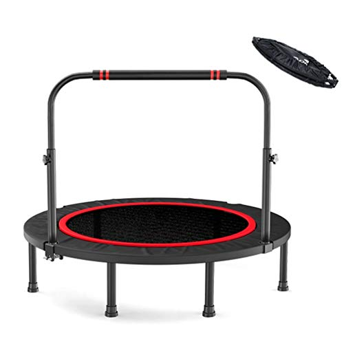 TRAMPOLINE AGYH 40-inch Folding, Fitness Bounce Bed With Adjustable Armrests And Safety Pad Cover, Suitable For Indoor Or Outdoor Use, Safe For Children