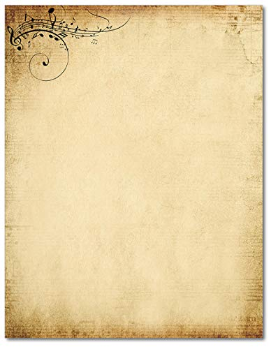Treble Clef Music Stationery Paper - 80 Sheets
