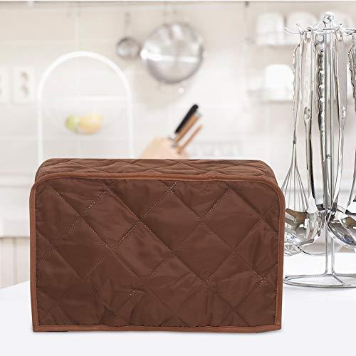 Bicaquu Wunderschöner Schutz für Kocherabdeckungen Exquisiter Suppentopf Staubschutz für Kocher, hochwertige(Brown, 40.6 * 23 * 25.4cm)