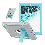 iPad 9.7 2018, Hülle für iPad 2017 9.7, Schutzhülle für iPad 6. Generation, Digital Hutty 3-in-1, stoßfest, strapazierfähig, mit Ständer Blue and Gray