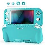 Teyomi - Funda de Silicona para Nintendo Switch Lite con Protector de Pantalla, 4 Piezas Joystick...