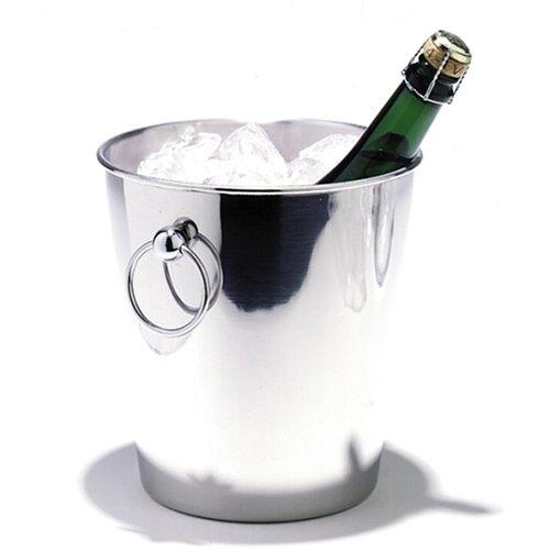Sektkühler Champagnerkühler Edelstahl glänzend ø200x202mm