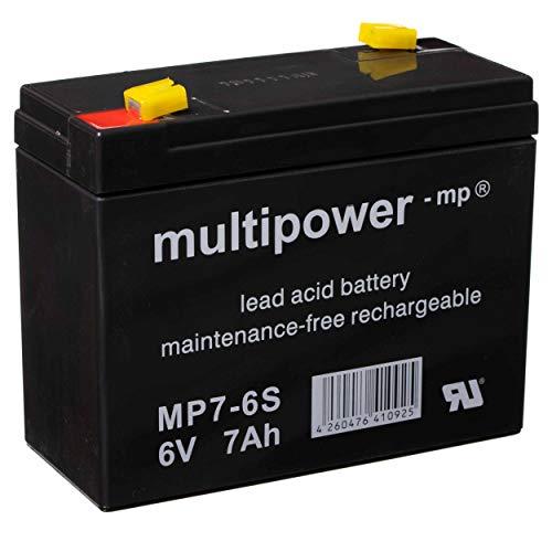 Batterie - 6V 7Ah Multipower Gelbatterie Blei-Akku