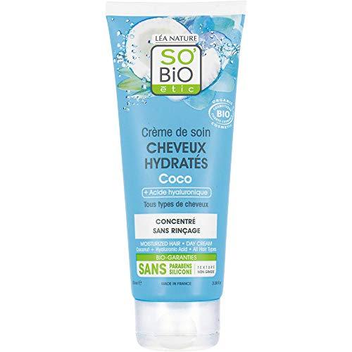 So'bio Etic Crème de soin cheveux hydratés coco - Le tube de 100 ml